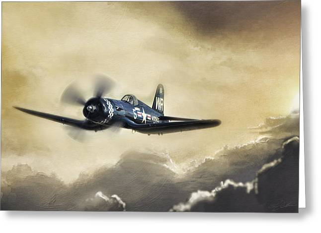 Sunlit Corsair Greeting Card by Peter Chilelli
