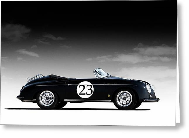 Black Speedster Greeting Card