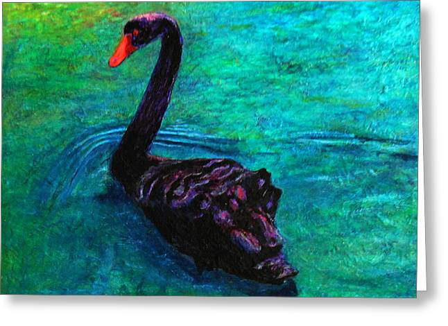 Black Swan Greeting Card by Michael Durst