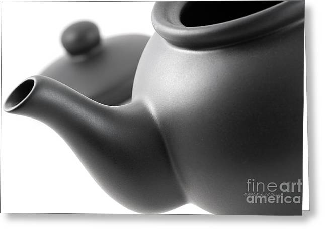 Black Teapot Greeting Card