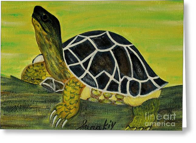 Black Turtle. Inspirations Collection. Greeting Card
