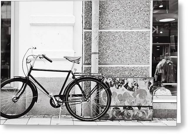 Black Vintage Bicycle Greeting Card