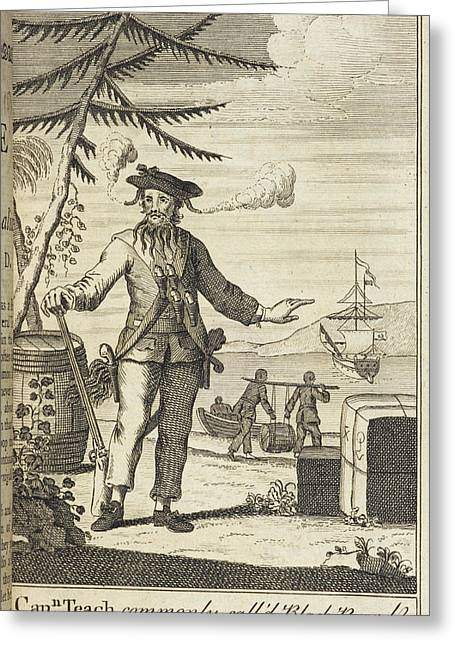 Blackbeard Greeting Card by British Library