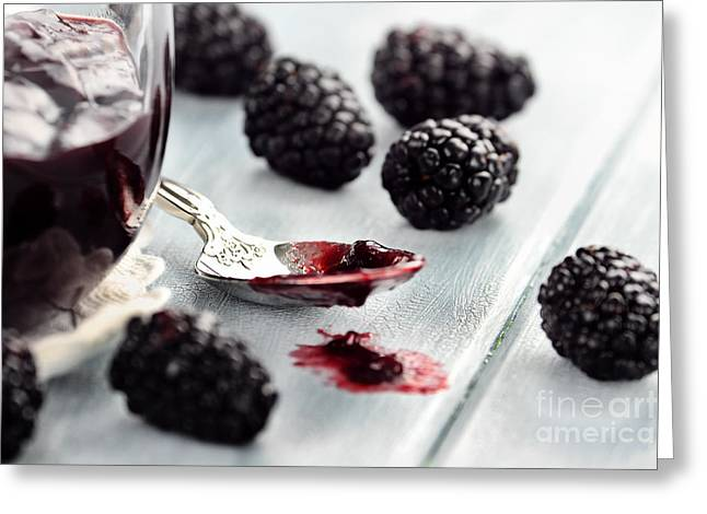 Blackberry Jam Greeting Card by Stephanie Frey