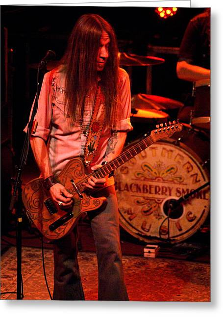 Blackberry Smoke Guitarist Charlie Starr Greeting Card