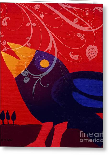 Blackbird Greeting Card by Lutz Baar