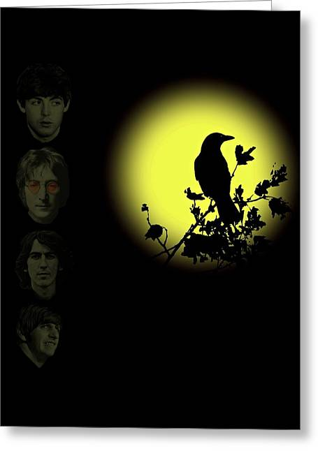 Blackbird Singing In The Dead Of Night Greeting Card