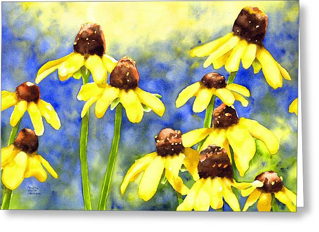 Blackeyed Beauties Greeting Card