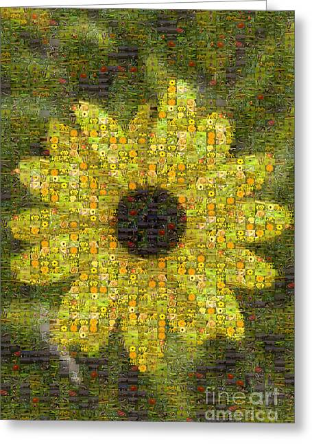 Blackeyed Suzy Mosaic Greeting Card