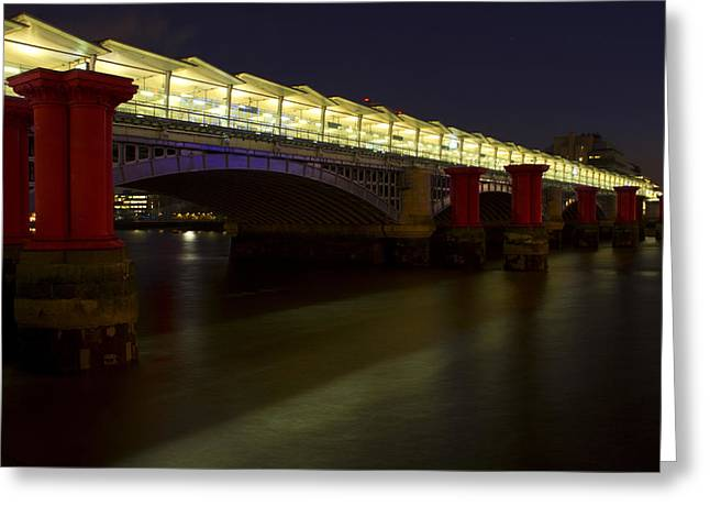 Blackfriars Railway Bridge Greeting Card