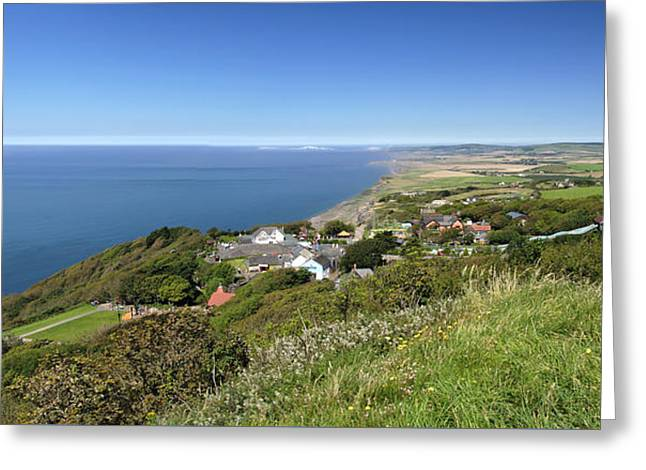 Blackgang And Chale Bay Panorama Greeting Card by Rod Johnson