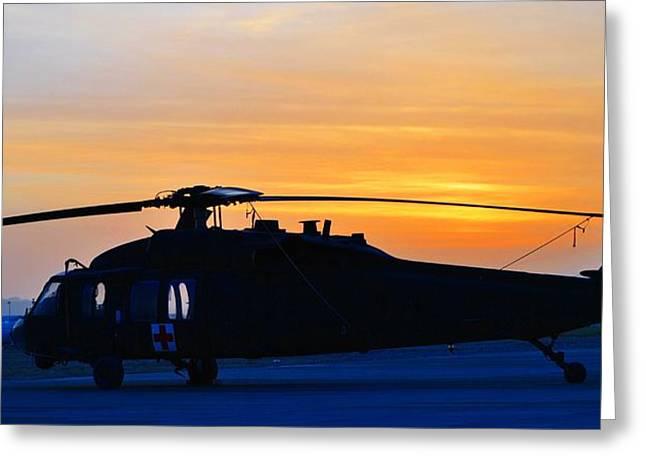 Blackhawk Sunrise Iv Greeting Card by Joshua Burcham