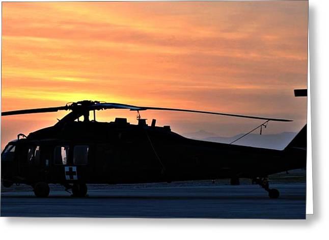 Blackhawk Sunrise V Greeting Card by Joshua Burcham