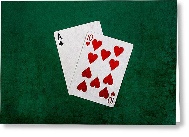 Blackjack Twenty One 1 Greeting Card