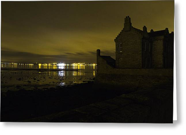 Blackness Castle Greeting Card by Buster Brown