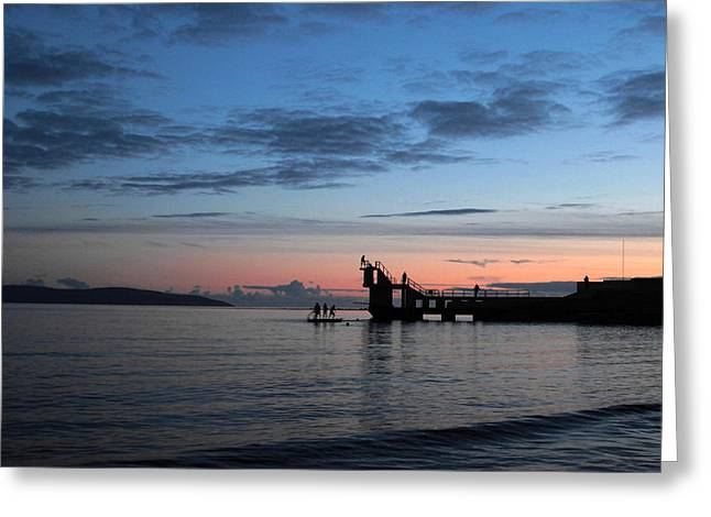 Blackrock After Sunset Greeting Card