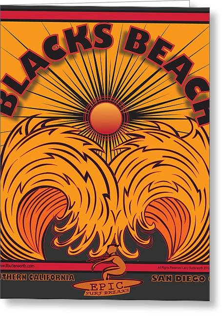 Blacks Beach San Diego California Greeting Card by Larry Butterworth