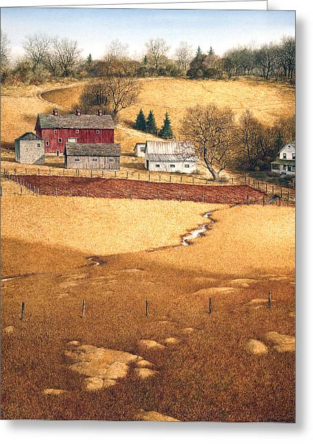 Greeting Card featuring the painting Blackshear Hollow by Tom Wooldridge