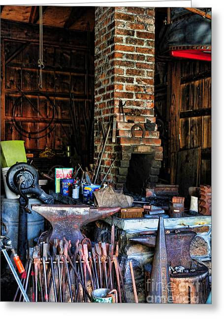 Blacksmith - All The Tools Greeting Card by Paul Ward