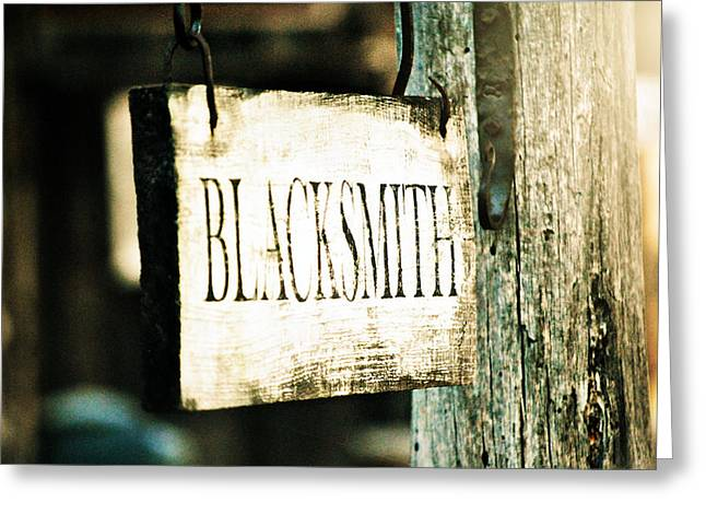 Blacksmith Greeting Card by Chastity Hoff