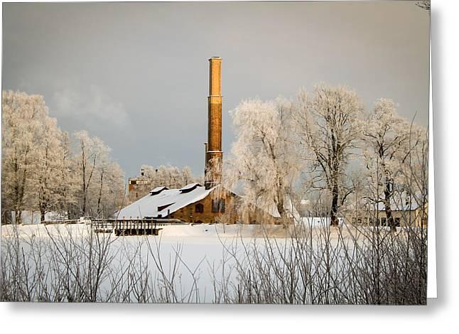 Blacksmith Greeting Card by Robert Hellstrom