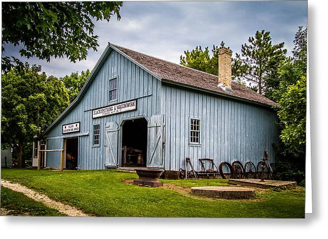 Blacksmith Shop Greeting Card