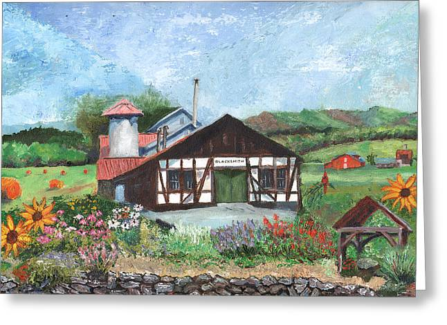 Blacksmith Shop Greeting Card by William Killen