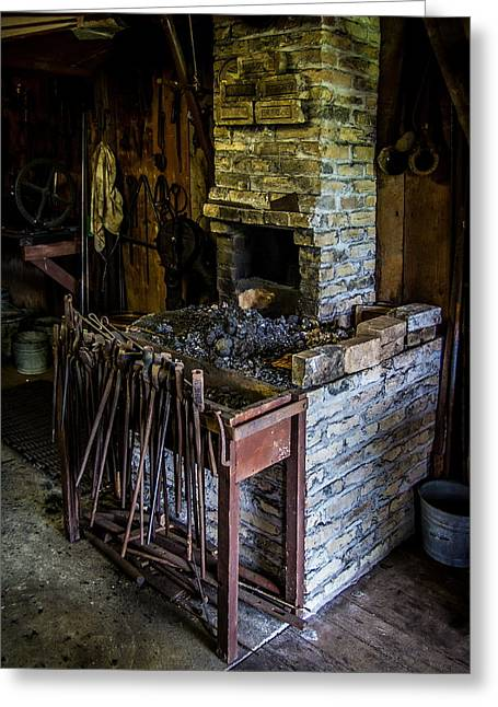 Blacksmiths Forge Greeting Card