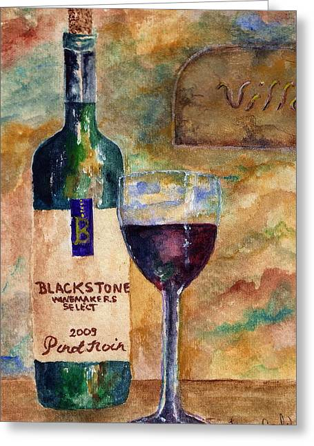 Blackstone Wine Greeting Card