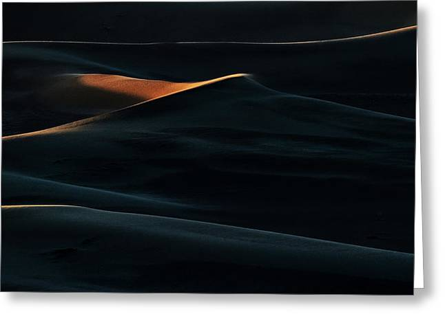 Blades Of Light Greeting Card by Mohammad Shefaa