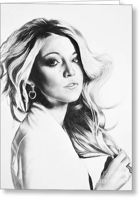 Blake Lively Greeting Card by Michael Durocher