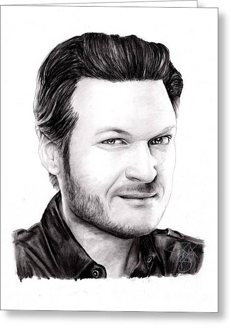 Blake Shelton Greeting Card by Rosalinda Markle