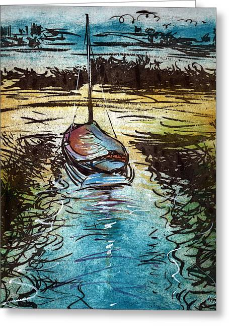 Blakeney Key Greeting Card by William Rowsell