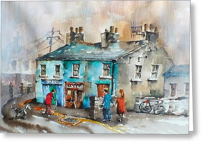 Blakes Corner Ennistymon Clare Greeting Card
