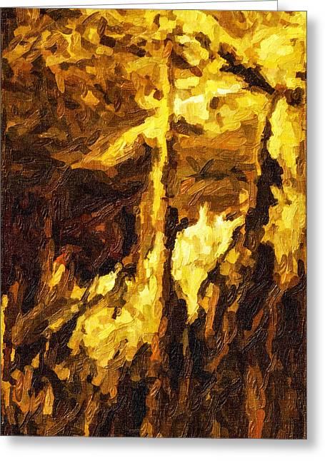 Blanchard Springs Caverns-arkansas Series 07 Greeting Card by David Allen Pierson