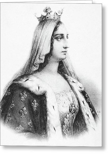 Blanche Of Castile (1188-1252) Greeting Card by Granger