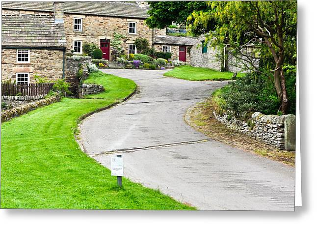 Blanchland Cottages Greeting Card by Tom Gowanlock