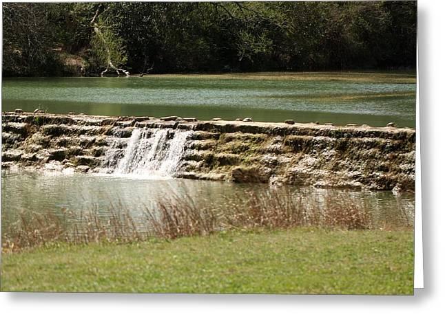 Blanco River Weir Greeting Card