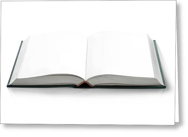 Blank Open Book Greeting Card