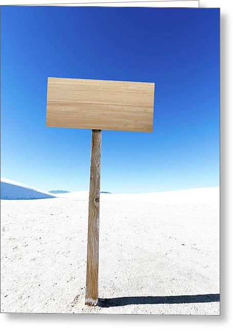Blank Sign In Desert Greeting Card