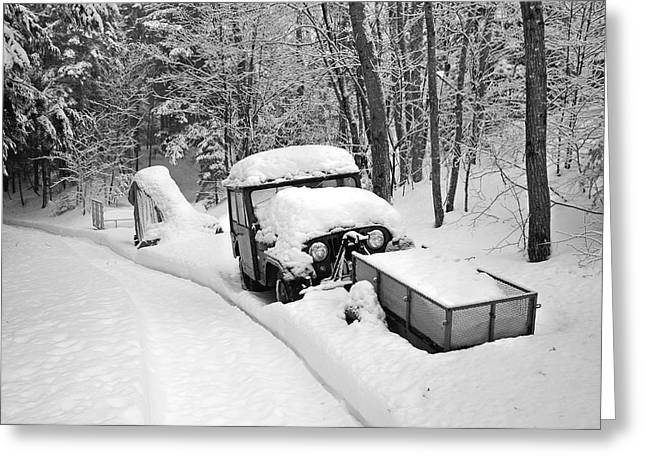 Greeting Card featuring the photograph Blanket Of Snow by Barbara West