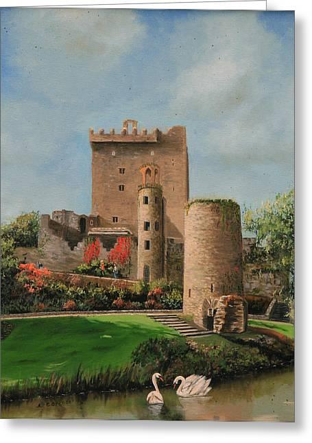 Blarney Castle Ireland Greeting Card by Cecilia Brendel