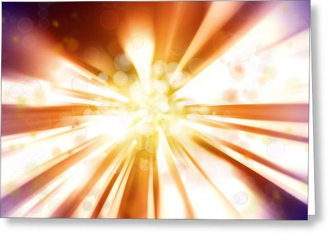 Blast Background  Greeting Card by Les Cunliffe