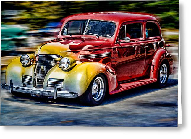 Blast From The Past Greeting Card by Larry Bishop