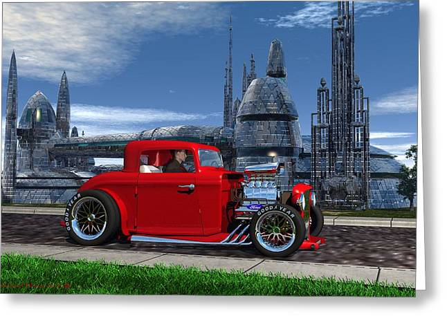 Blast From The Past Greeting Card by Michael Wimer