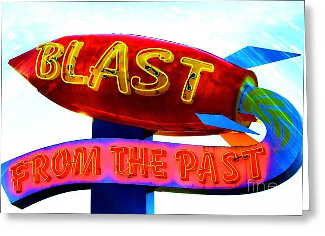 Blast From The Past Greeting Card by Karen Anderson