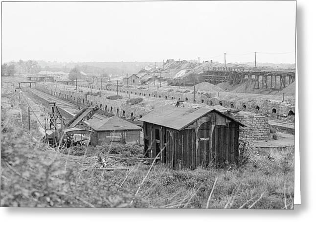 Blast Furnace Coke Ovens Greeting Card by Hagley Museum And Archive