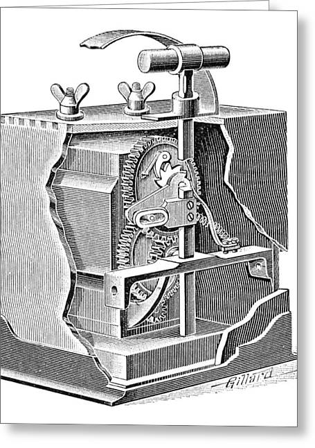 Blasting Trigger Mechanism, Artwork Greeting Card by Science Photo Library