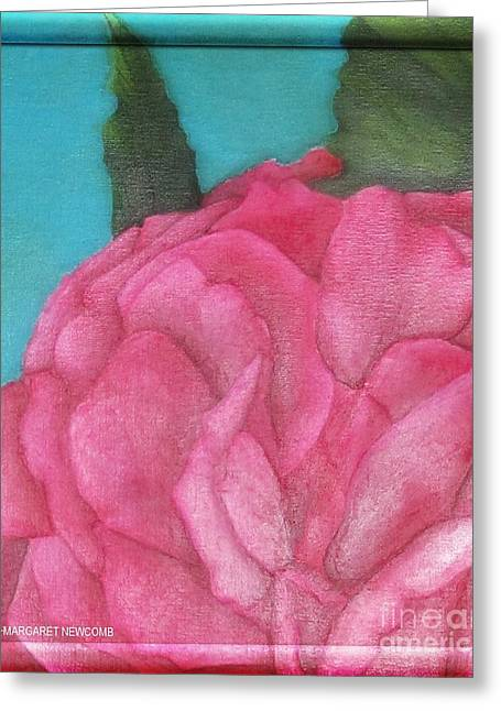 Blaze Rose Oil On Canvas Greeting Card