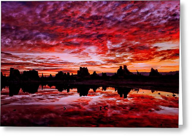 Blazing Dawn Greeting Card
